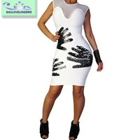 Maclove Wholesale Women Clothes Bandage Sexy Bodycon Charming Dress