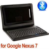 Wholesale Wireless Bluetooth Keyboard Case Cover Stand for Google ASUS Nexus 7, Free Shipping