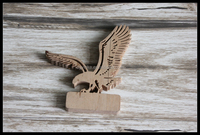 2015 China manufacture new design carving wooden crafts . Best selling wooden eagle use as gifts