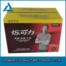 paper corrugated box is drink packing