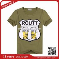 2015 new fashion high quality print exclusive t-shirt factory custom oem t-shirt