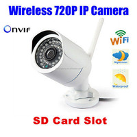 P2P Onvif SD Card Slot Night Vision Wireless IP Network Home Surveillance Camera Wifi