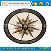 "50"" best price star shape crema marfil marble waterjet for villa&hotel decor"