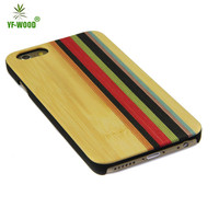 Colorful bamboo wooden cover for iphone 6s, wood back case for Apple iphone 6