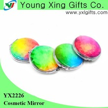 Elegant and beauty round compact mirror with epoxy doming on the top