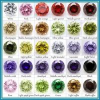 Xin Shun Bao Gems Wholesale Cubic Zirconia, customized CZ color chart