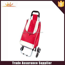 2015 hot sale customized foldable shopping bag trolley with wheels