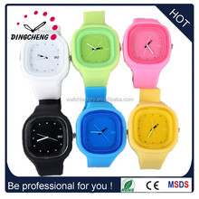 China Alibaba Website Fashion Wristband Quartz display Silicone Jelly Watch for Women and kids