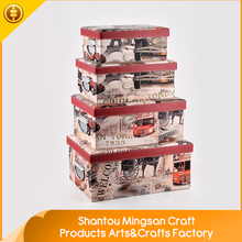 High Grade Home eco-friendly beautiful car printed storage boxes & bins with lid