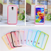 For Samsung galaxy s5 rubber silicone TPU bumper + PC back case skin cover mobile phone accessory