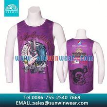 flower print mesh mens tank top shirt