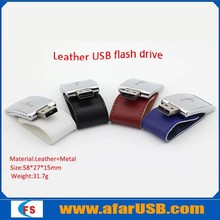 2014 leather pen drive,usb flash drive leather,white leather flash drive