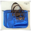 Best selling wholesale solid color polyester satin shopping bag