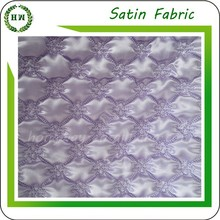 Hongway polyester satin quilted fabric /quilted garment fabric / quilt satin fabric