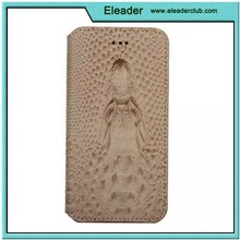 for iphone 6 flip crocodile leather case