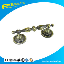 China supplier classical door handle in antique brass color