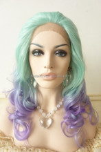 large stock top quality cosplay synthetic lace front wig