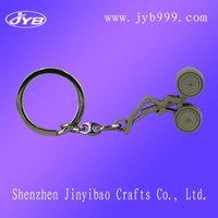Advertising Logo Pinted Metal Initial Key Chain/Metal Key Ring