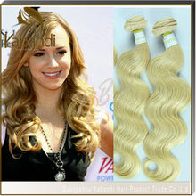 Wholesale factory price supply virgin human ash blonde hair weaves 24 26 28 30inches 613 blonde human hair