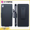 Black phone case for Sony Z3 hot selling belt clip case
