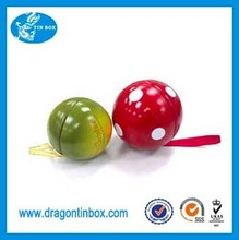 Wholesale multipurpose color ball shaped chocolate tin containers/boxes, decorative Christmas tree ornament