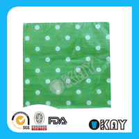 2015 Hot Sale Polka Dot Table Paper Napkins Canada For Wedding