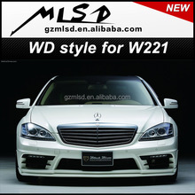 auto spare wd style body kit for w221 S-65 PP/ PU/ Carbon fiber