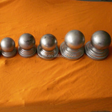 wrought iron hollow ball with round base for fence decoration