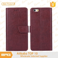 BRG Folio Flip Litchi Pattern Leather Case for phone case with Magnetic Closure for iphone 6 plus