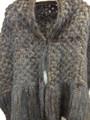 Moda de punto de visón bufanda, pieles de visón Real mantón para la ropa de las mujeres