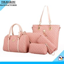 hot selling stylish street women 5 pcs set bags lady tote bag