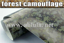 Self adhesive removable manufacturer car full body Forest sticker camouflage