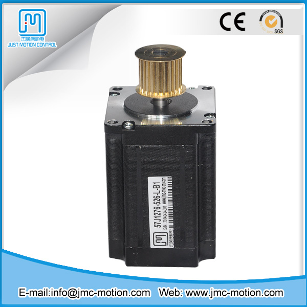 High torque low noise CNC machine motor 57J1276-526-L NEMA23 3 phase stepper motor with synchronizing wheel
