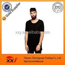 Simple new design loose all black organic cotton plain overseas he man t shirts
