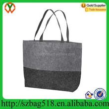 Customized large hand tote shopping bag promotion felt fashion tote bag