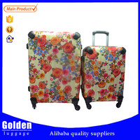 New designer 2016 travel luggage bags and cases with aluminum trolley luggage