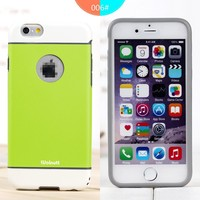 new arrival Silicone+PC Soft Armour Case For iPhone 6 4.7 armour case for apple iphone 6 hybrid shockproof cover case