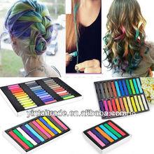 6/12/24/36 colores de moda caliente temporal de pelo tinte tiza suave en colores pastel de bricolaje/ tiza peluca