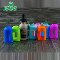 New arrival 30ml silicone rubber material eye dropper glass plastic bottles, e-liquid e juice bottle protective silicone case