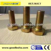 Yellow color bolt and nut (ISO9001:2008 Certified)