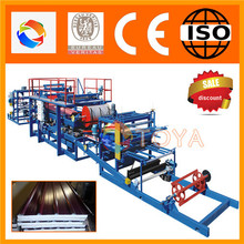 Energy-efficient -look eps/mineral wool sandwich panel machine with ce