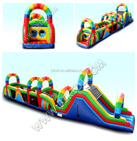 New rainbow inflatable obstacle course, giant obstacle course inflatables B5030
