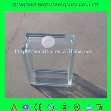 Size 190*90*80mm clear Glass block with hole and cap price custom-made