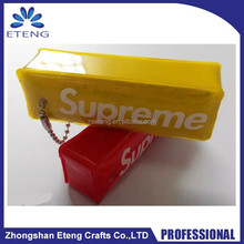 Popular gifts custom printed reflective pvc zipper bag,pvc pen bag