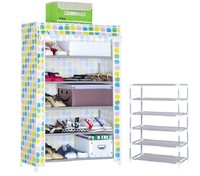 5-tier standard Shoe Cabinet Rack with Cover Organization retail Shoe Rack Display