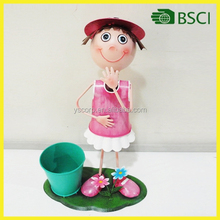 Hot selling metal mini flower pot for garden decoration
