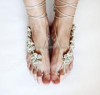 2015 New product Women Body Jewelry wedding Crochet Barefoot Sandals