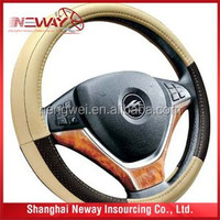 Hot sales Car/bus/truck steering wheel cover leather, best price offer