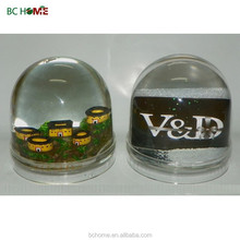 plastic photo frame snow globe