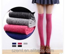wool wholesale Cable knit over the knee boot socks